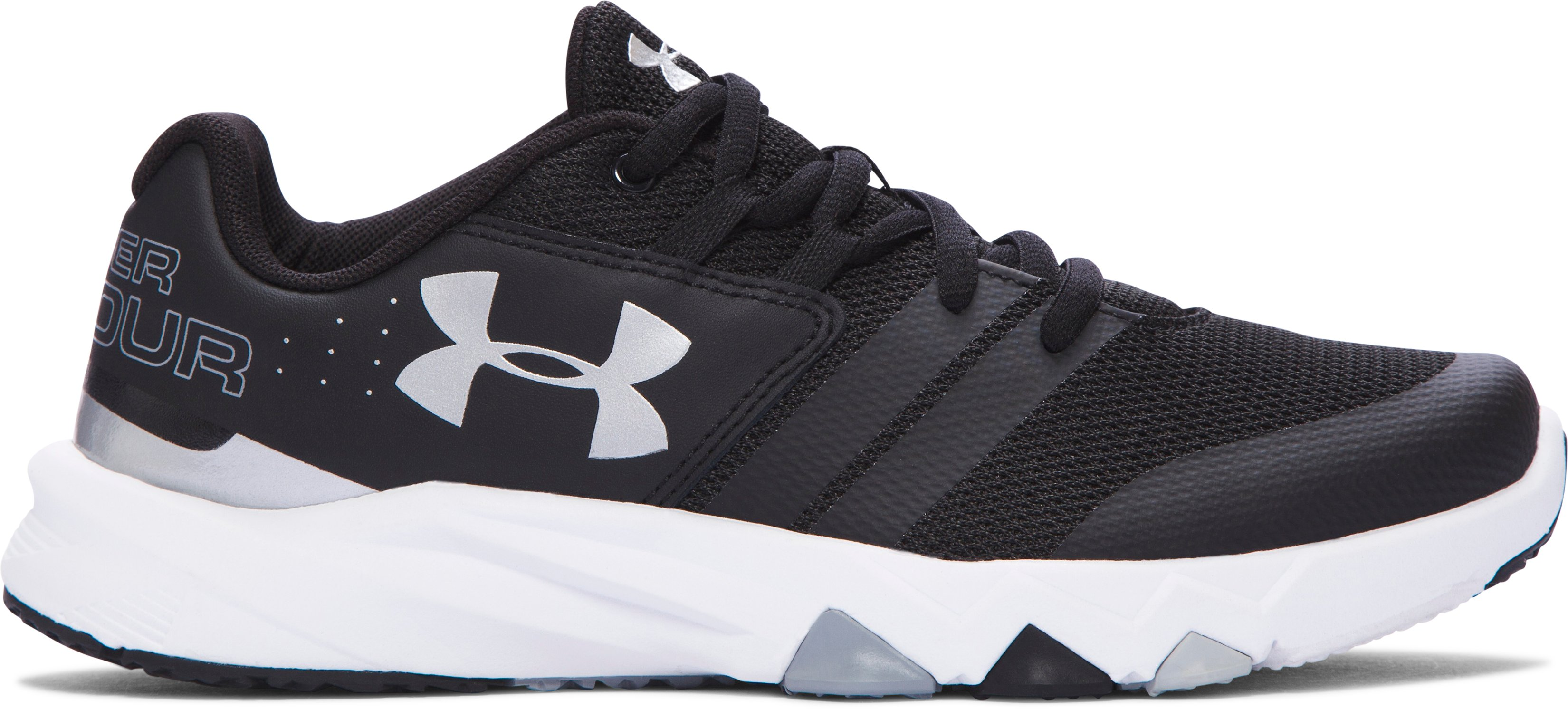 Boys' Grade School UA Primed Running Shoes, Black