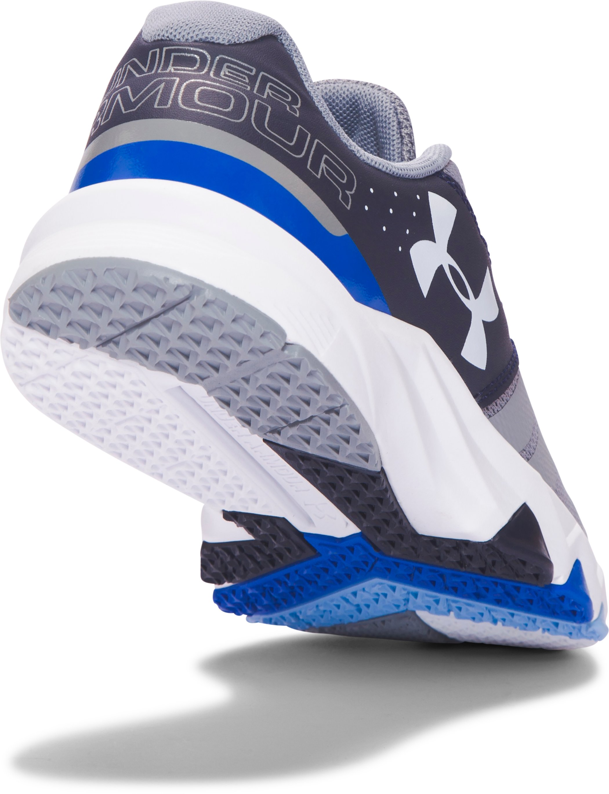 Boys' Grade School UA Primed Running Shoes, Steel, undefined