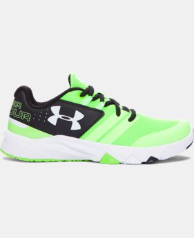 Boys' Grade School UA Primed Running Shoes LIMITED TIME: FREE U.S. SHIPPING 1 Color $64.99