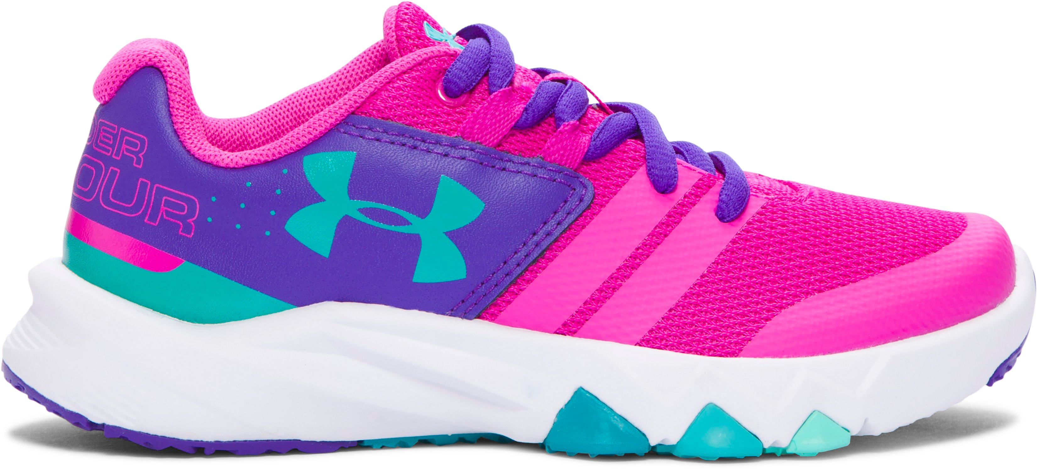 Girls' Pre-School UA Primed Running Shoes, LUNAR PINK