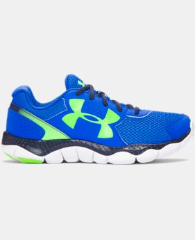 New Arrival Boys' Grade School UA Engage 3 Big Logo Running Shoes   $54.99