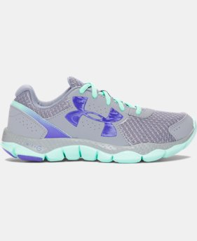 New Arrival Girls' Grade School UA Engage 3 Big Logo Running Shoes   $54.99