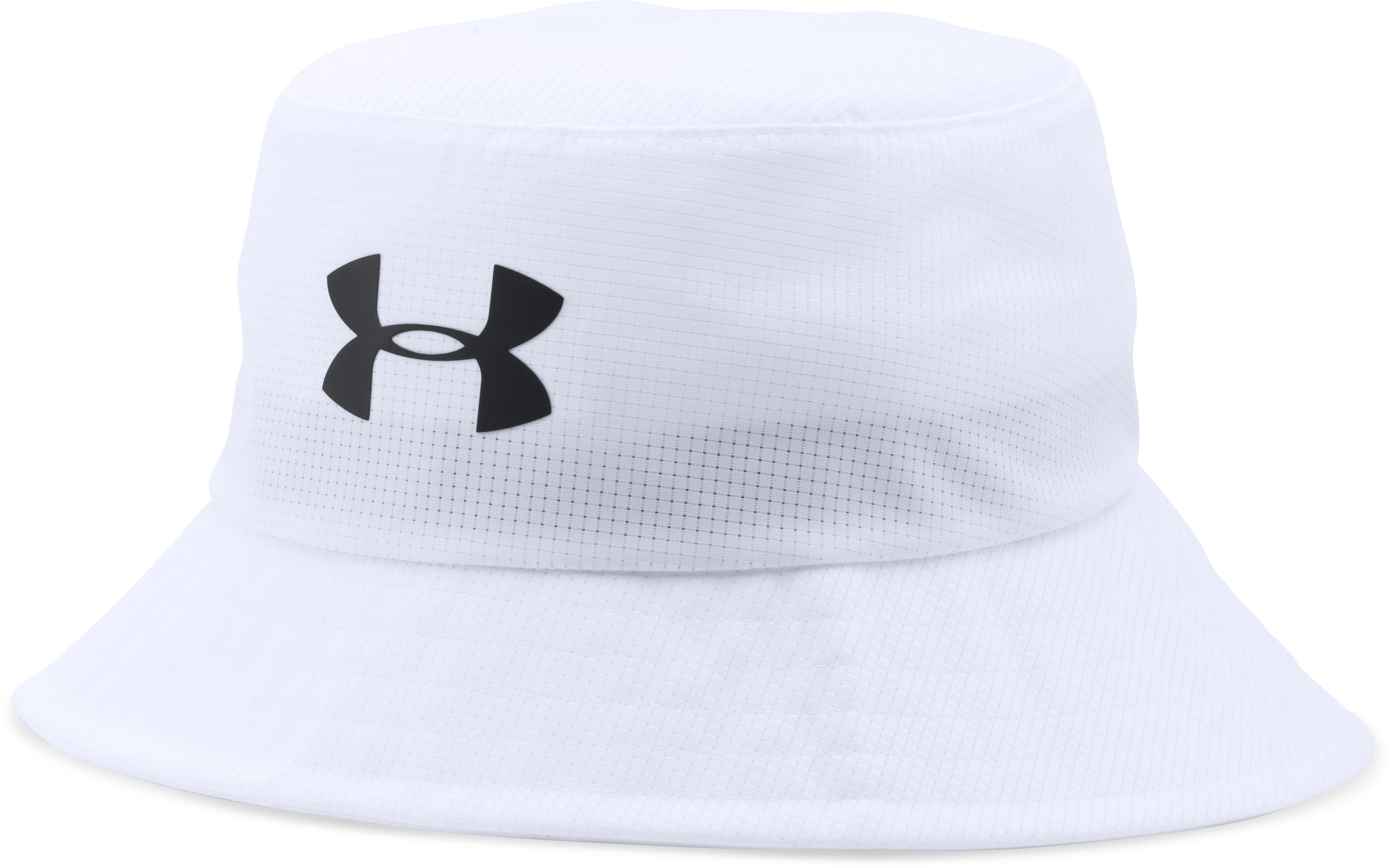 Men's UA Storm Golf Bucket Hat, White, zoomed image