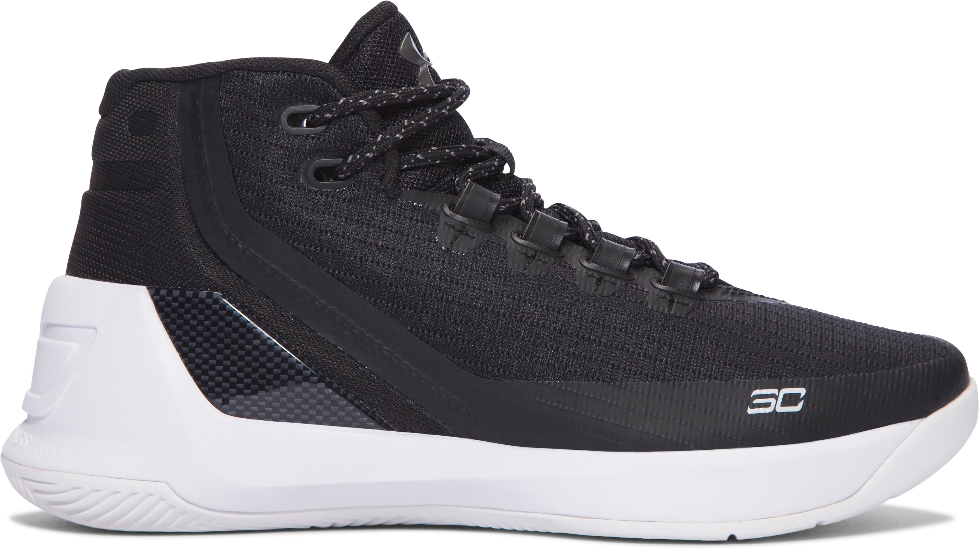 Boys' Grade School UA Curry 3 Basketball Shoes, Black ,