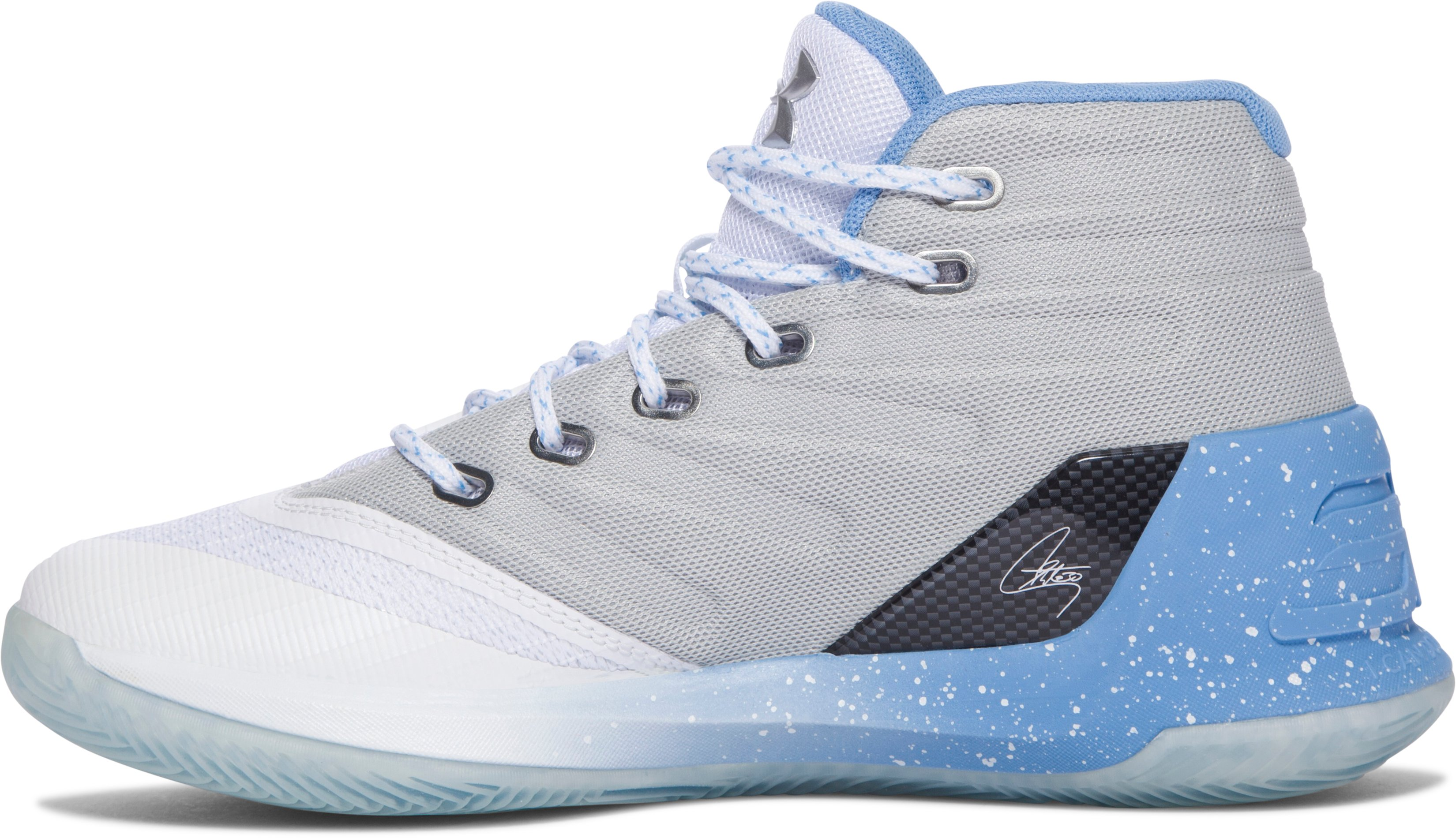 Boys' Grade School UA Curry 3 Basketball Shoes, White, undefined