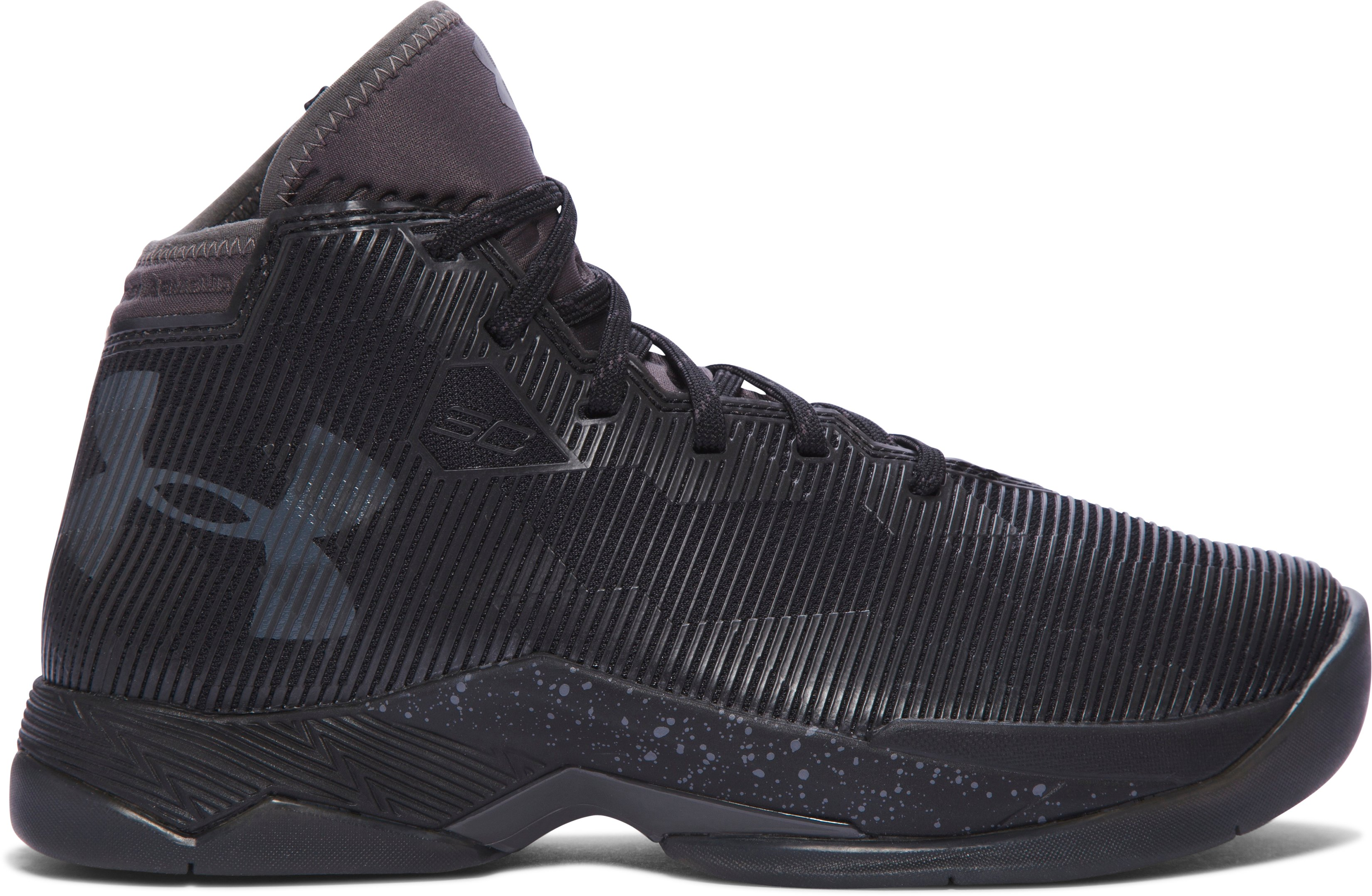 Boys' Grade School UA Curry 2.5 Basketball Shoes, Black ,
