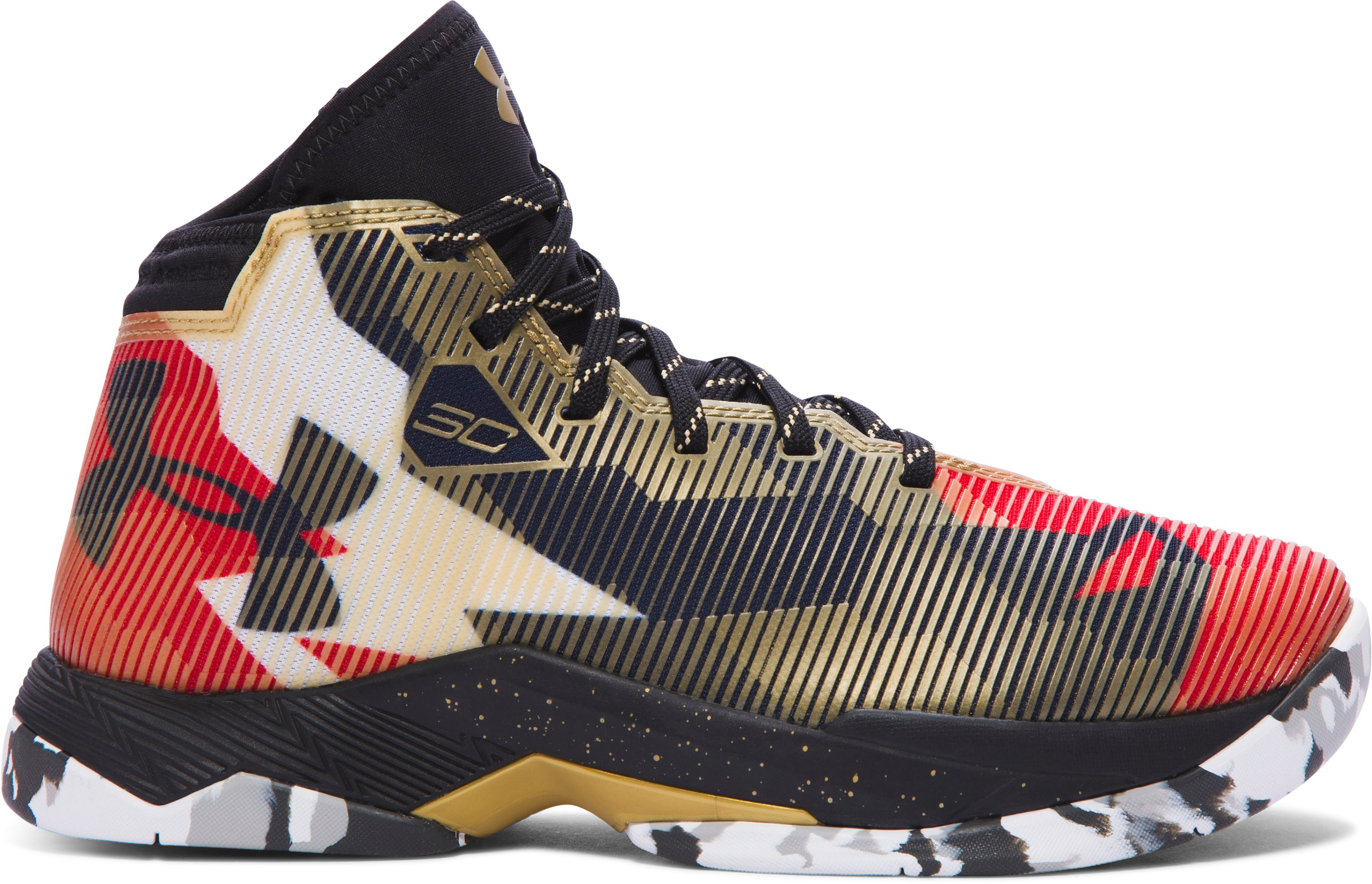 Boys' Grade School UA Curry 2.5 Basketball Shoes, Heavy Metal