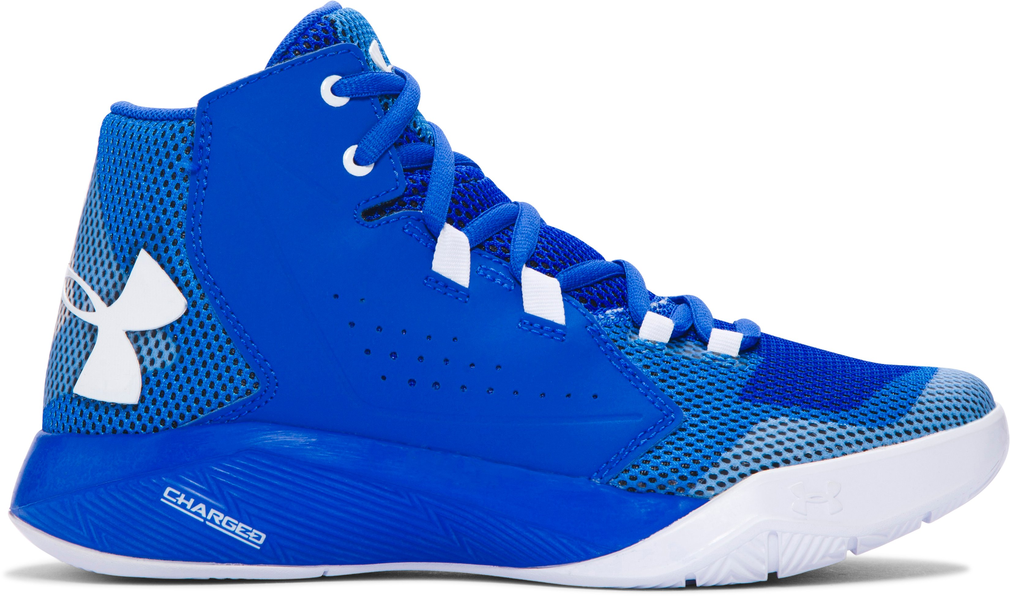 Boys' Grade School UA Torch Fade Basketball Shoes, ULTRA BLUE