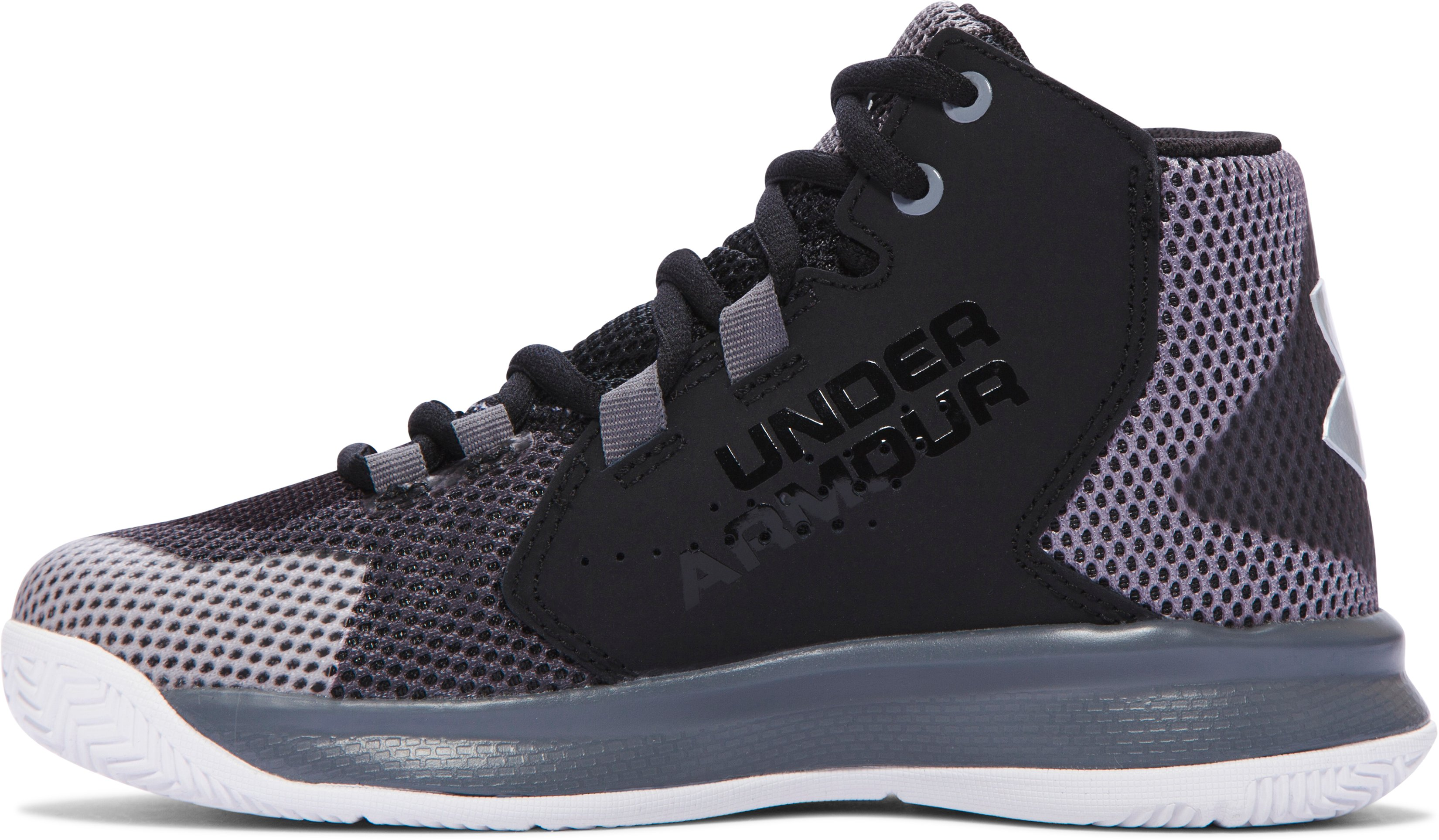Boys' Pre-School UA Torch Fade Basketball Shoes, Black