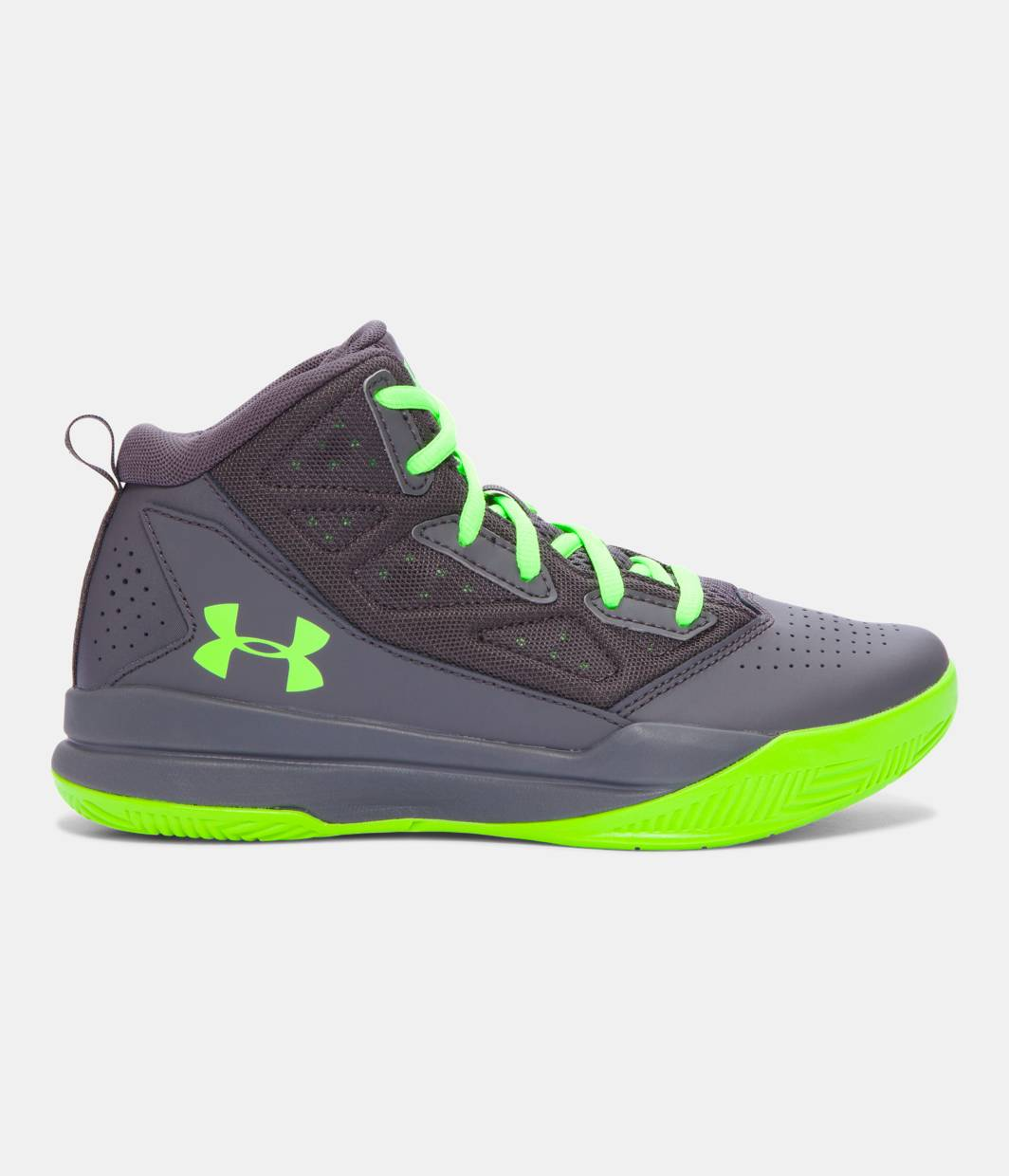 Under Armour Jet Mid Basketball Shoes Junior Boys QMUKXB