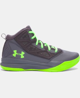 Best Seller Boys' Grade School UA Jet Mid Basketball Shoes  4 Colors $54.99