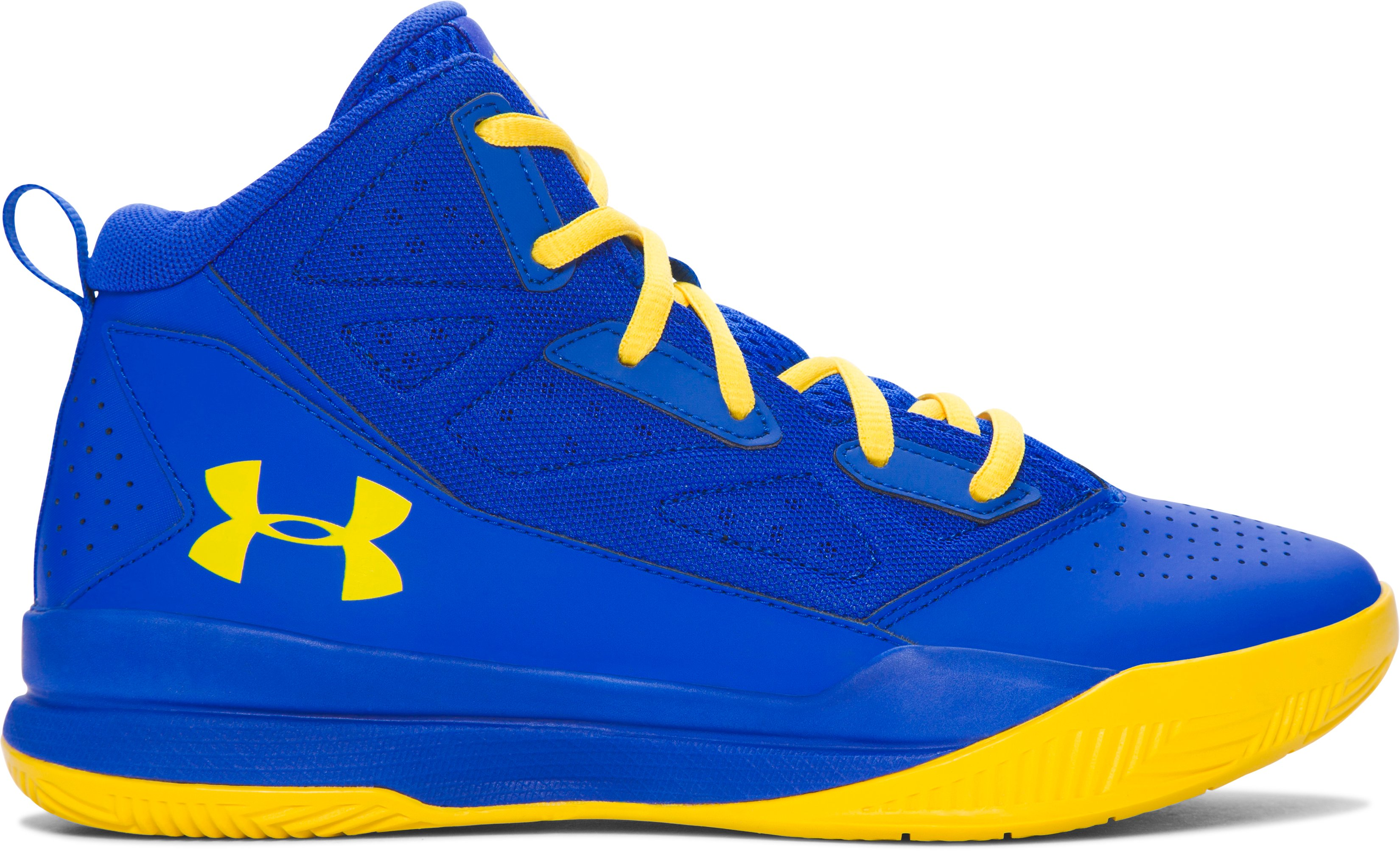 Boys' Grade School UA Jet Mid Basketball Shoes, TEAM ROYAL