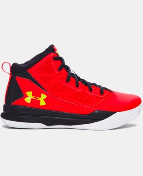 Boys' Grade School UA Jet Mid Basketball Shoes LIMITED TIME: FREE U.S. SHIPPING 1 Color $41.99