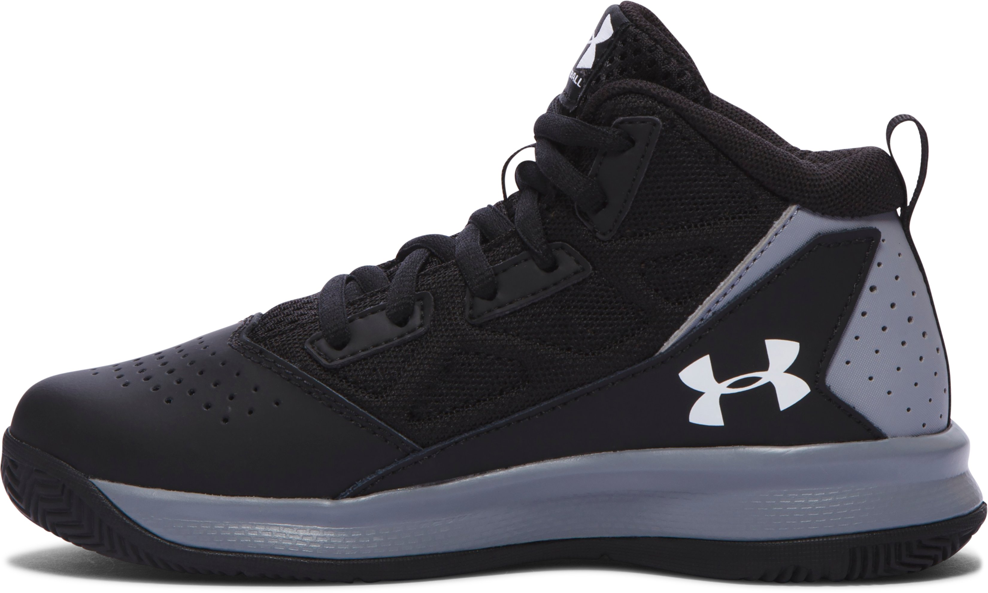 Boys' Pre-School UA Jet Mid Basketball Shoes, Black , undefined