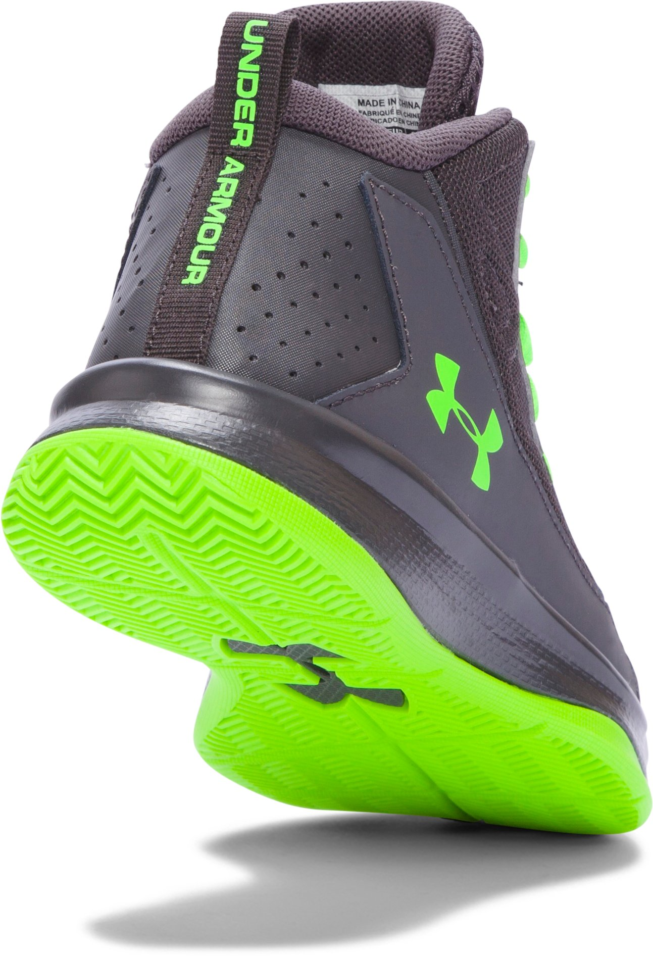 Boys' Pre-School UA Jet Mid Basketball Shoes, STEALTH GRAY