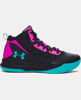 Girls' Grade School UA Jet Mid Basketball Shoes   $54.99