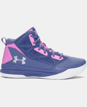 Girls' Grade School UA Jet Mid Basketball Shoes  1 Color $52.99