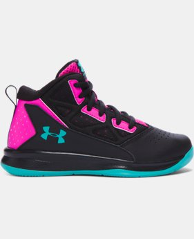 New Arrival   Girls' Pre-School UA Jet Mid Basketball Shoes  1 Color $59.99