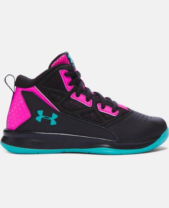 Girls' Pre-School UA Jet Mid Basketball Shoes LIMITED TIME: FREE SHIPPING  $59.99