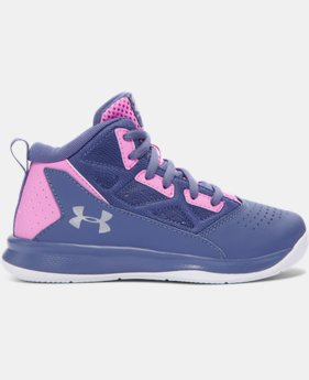 Girls' Pre-School UA Jet Mid Basketball Shoes   $54.99