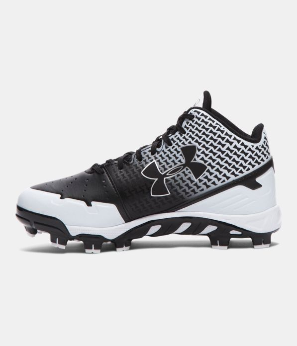 Boys Ua Spine Heater Mid Tpu Jr Baseball Cleats Under