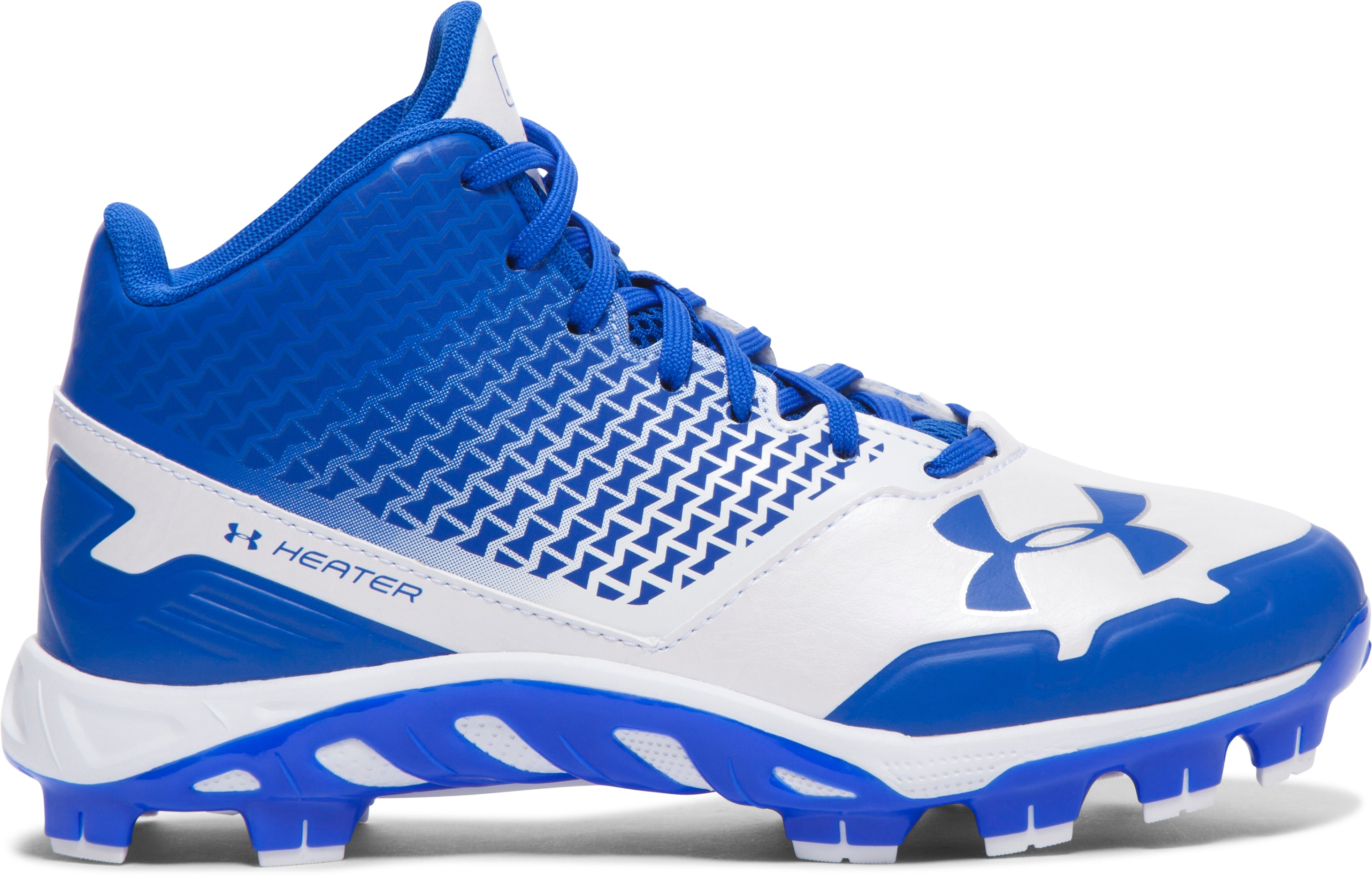 Boys' UA Spine Heater Mid TPU Jr. Baseball Cleats, TEAM ROYAL