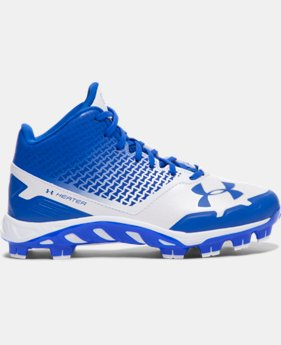 New Arrival  Boys' UA Spine Heater Mid TPU Jr. Baseball Cleats  1 Color $69.99