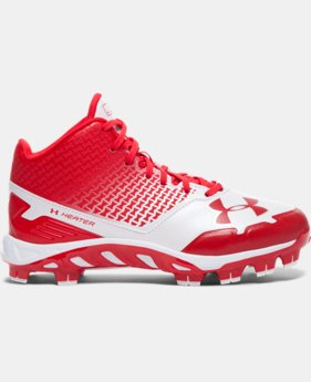 New Arrival  Boys' UA Spine Heater Mid TPU Jr. Baseball Cleats   $69.99