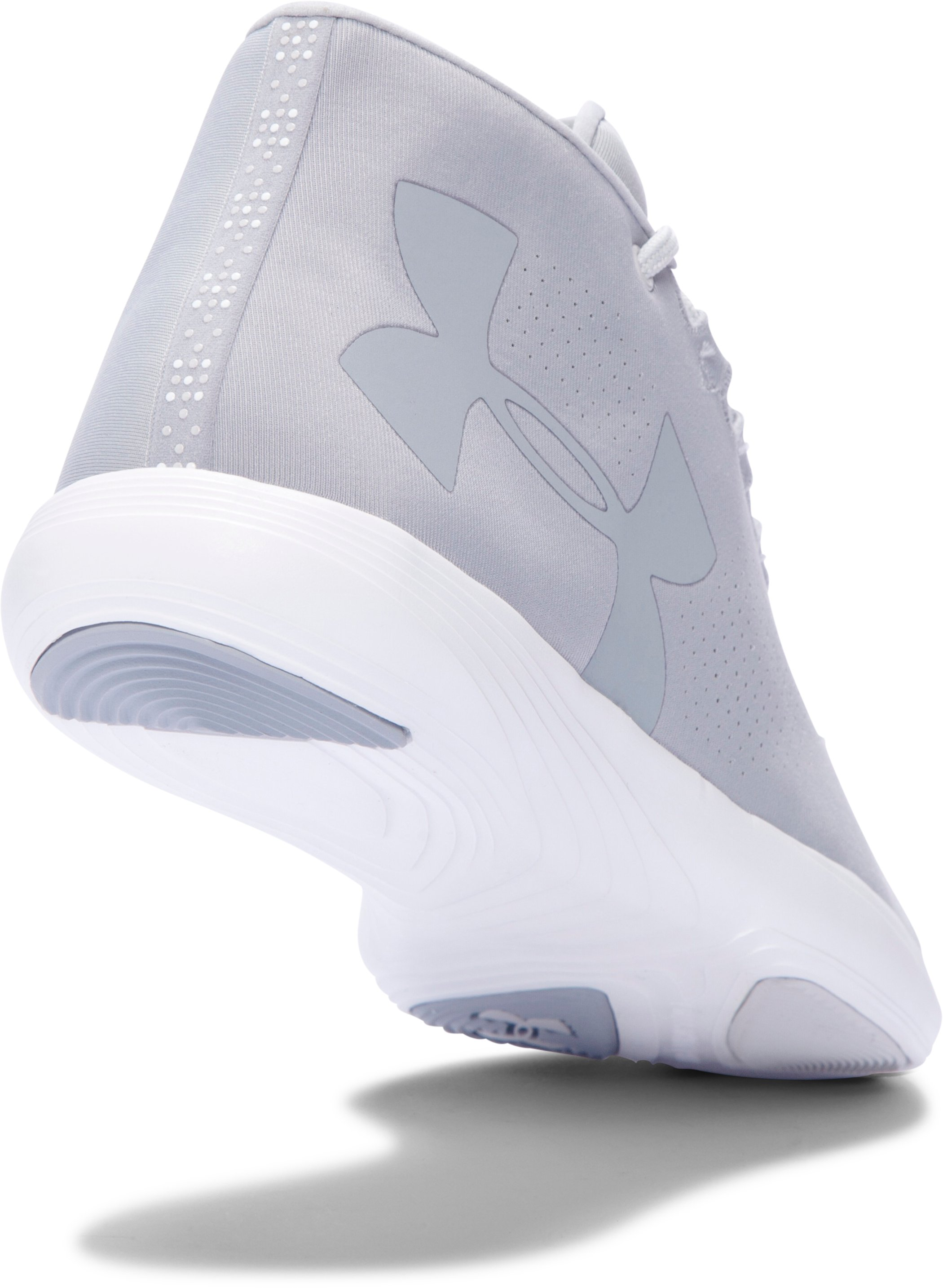 Women's UA Street Precision Mid Training Shoes, OVERCAST GRAY,
