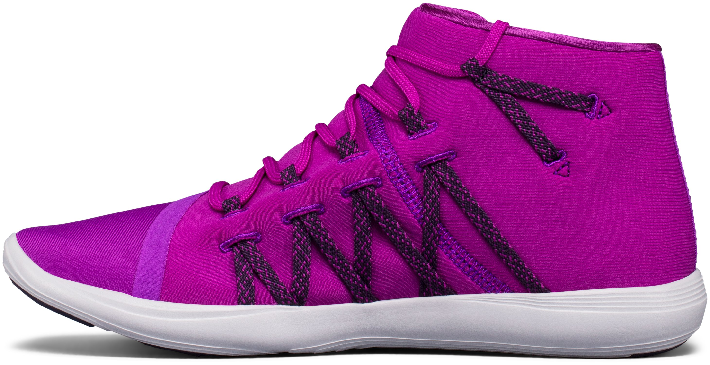 Women's UA Street Precision Mid Training Shoes, PURPLE RAVE