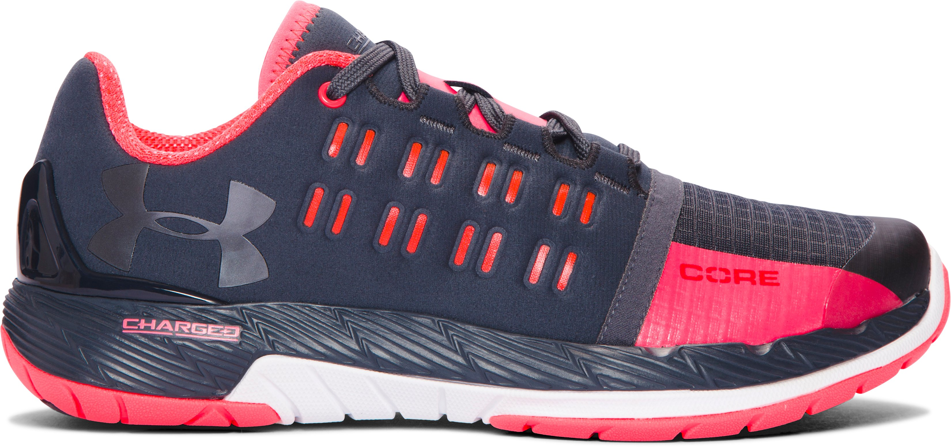 Women's UA Charged Core Training Shoes, STEALTH GRAY