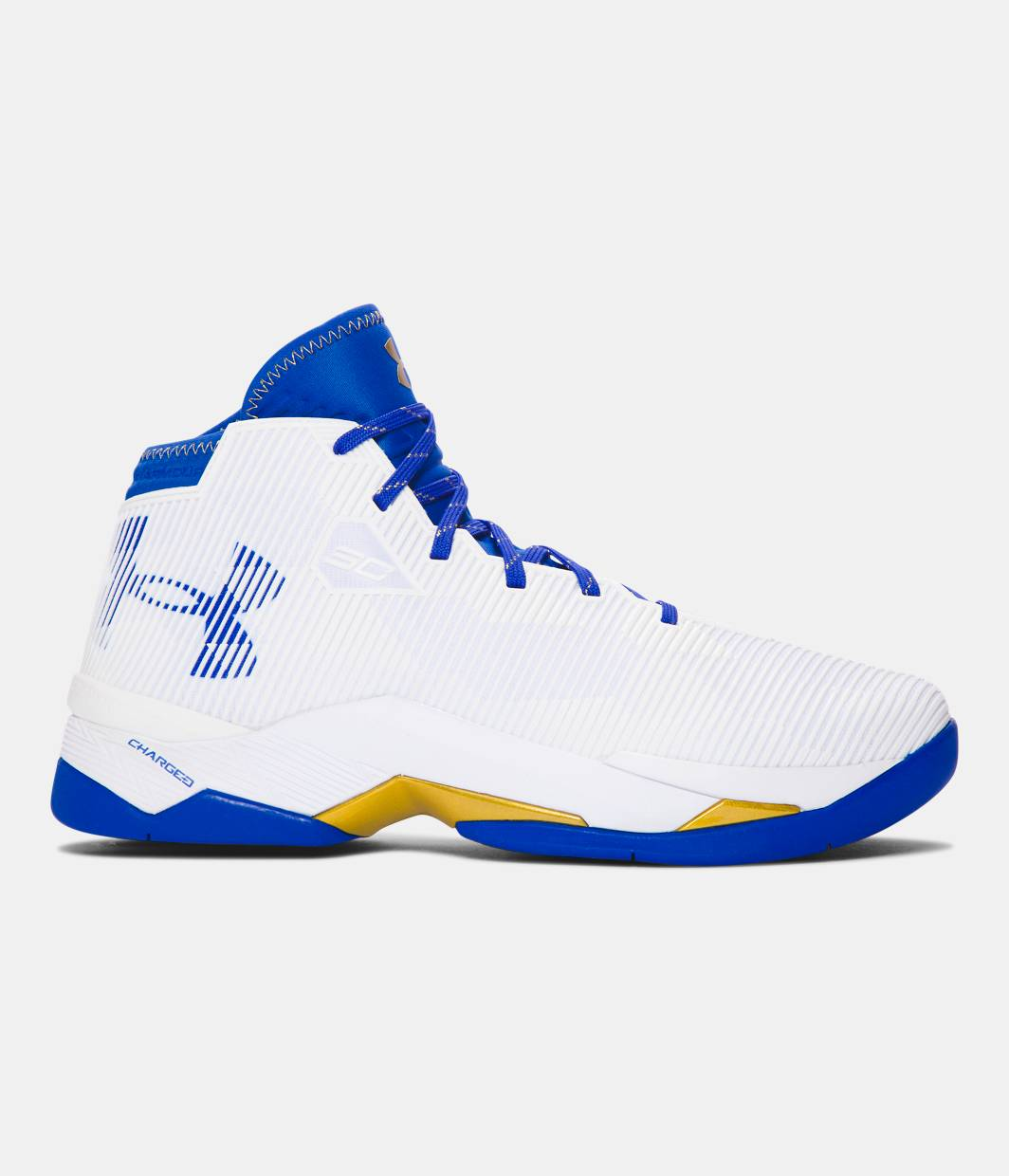 Curry S Basketball Shoes Blue Red And White