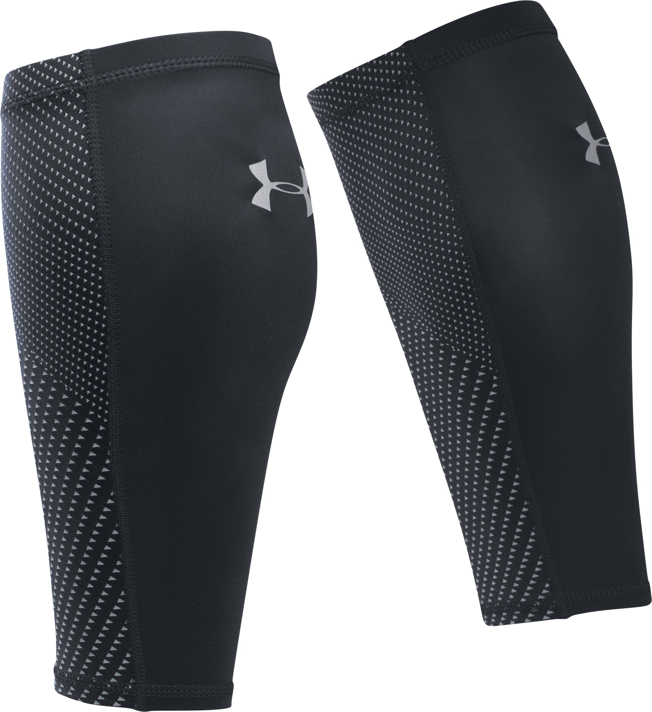 Men's UA Run Graphic Compression Calf Sleeves, Black , undefined