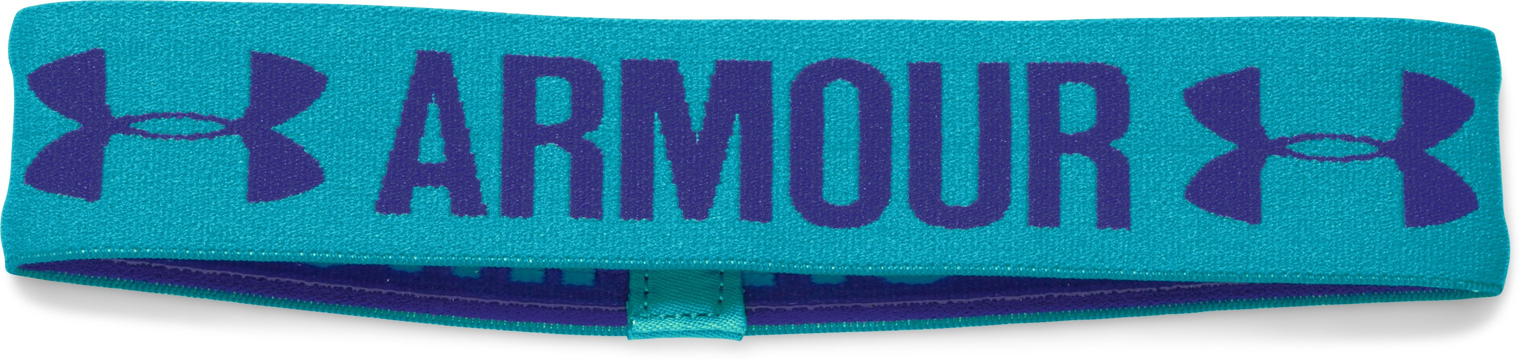 Girls' UA Armour Headband, BOLD AQUA,