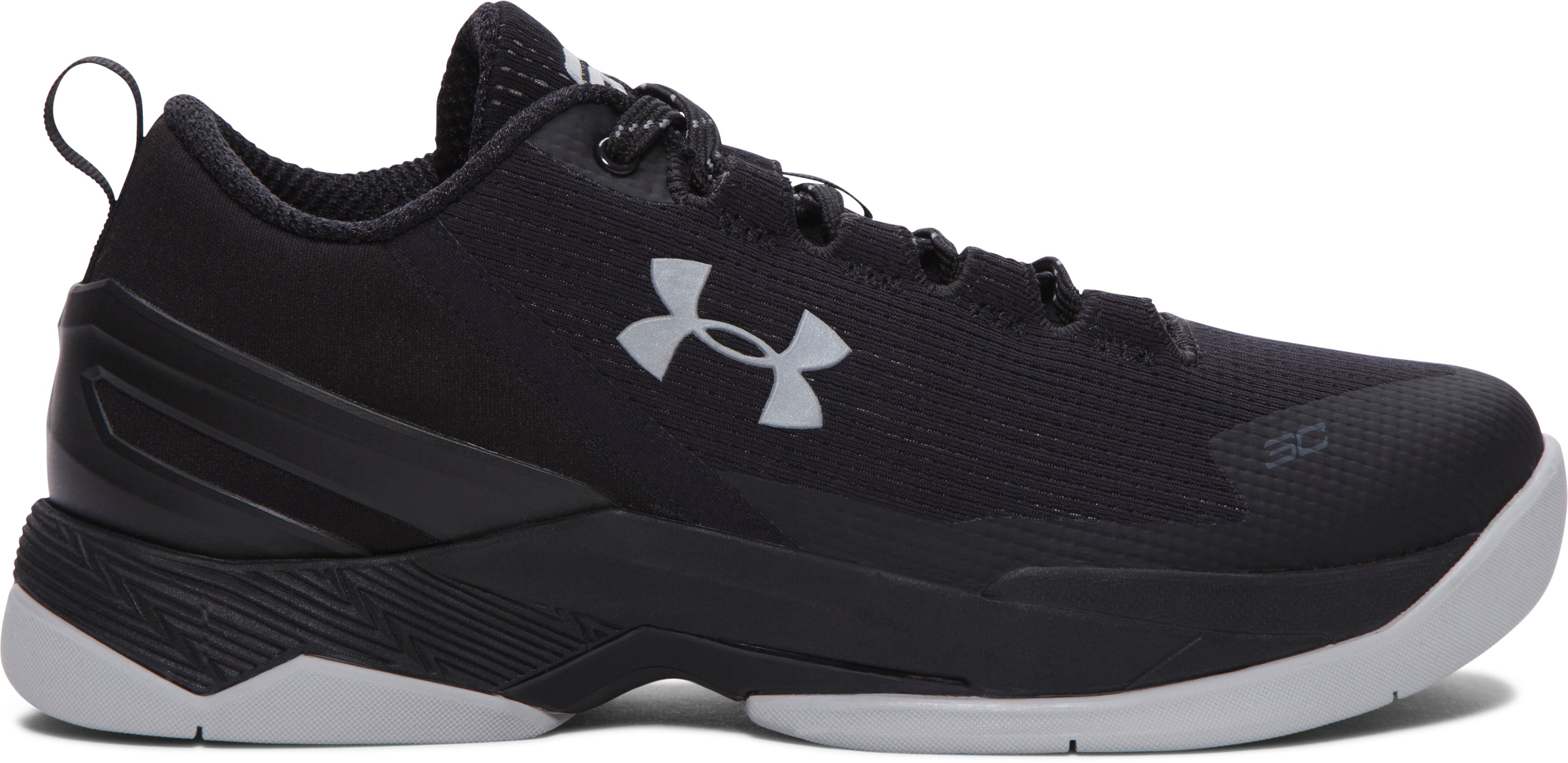 Boys' Grade School UA Curry Two Low Basketball Shoes, Black