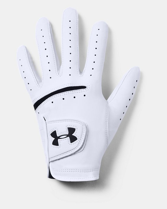 Men's UA Strikeskin Tour Golf Glove, White, pdpMainDesktop image number 2