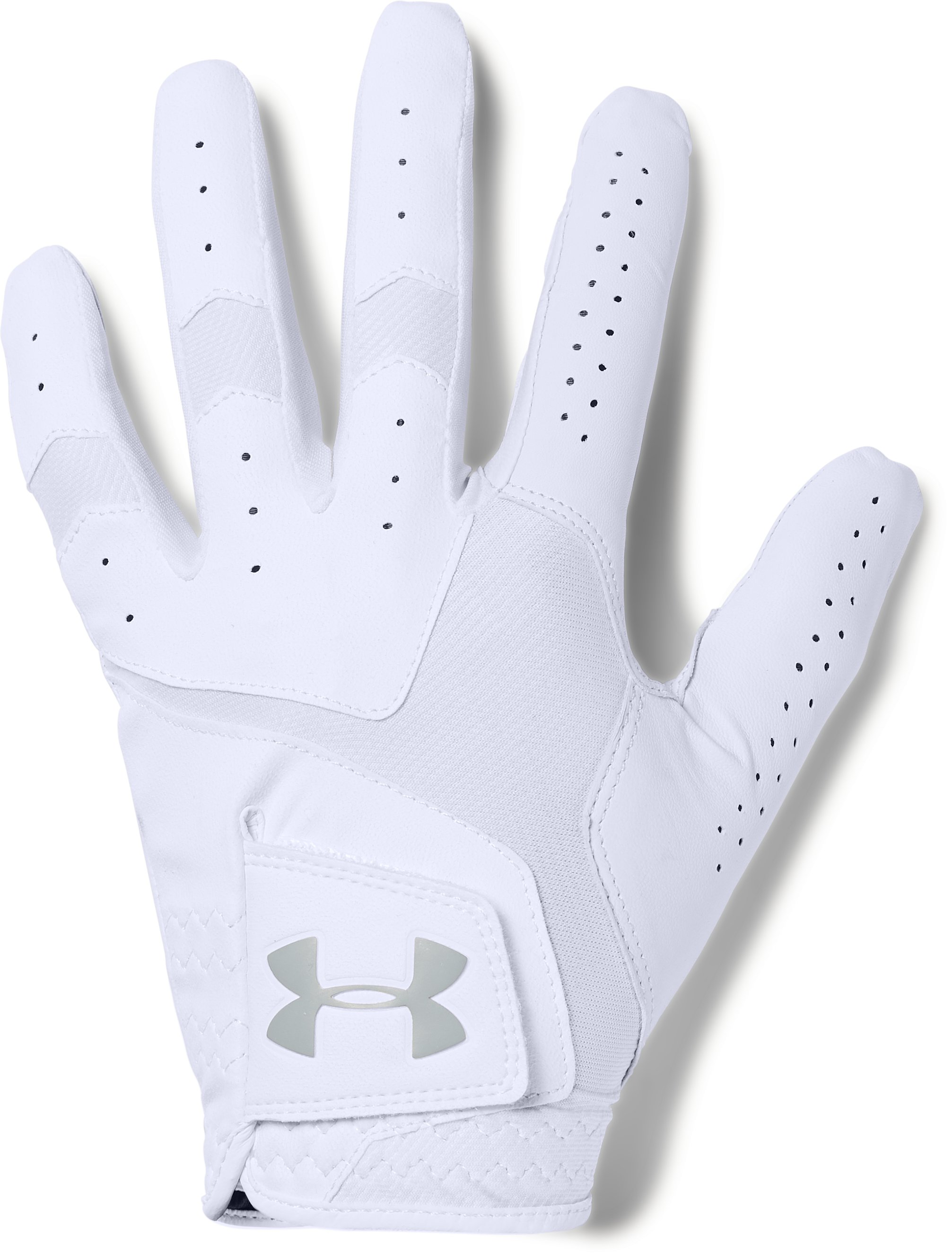 Men's UA CoolSwitch Golf Glove, White, undefined