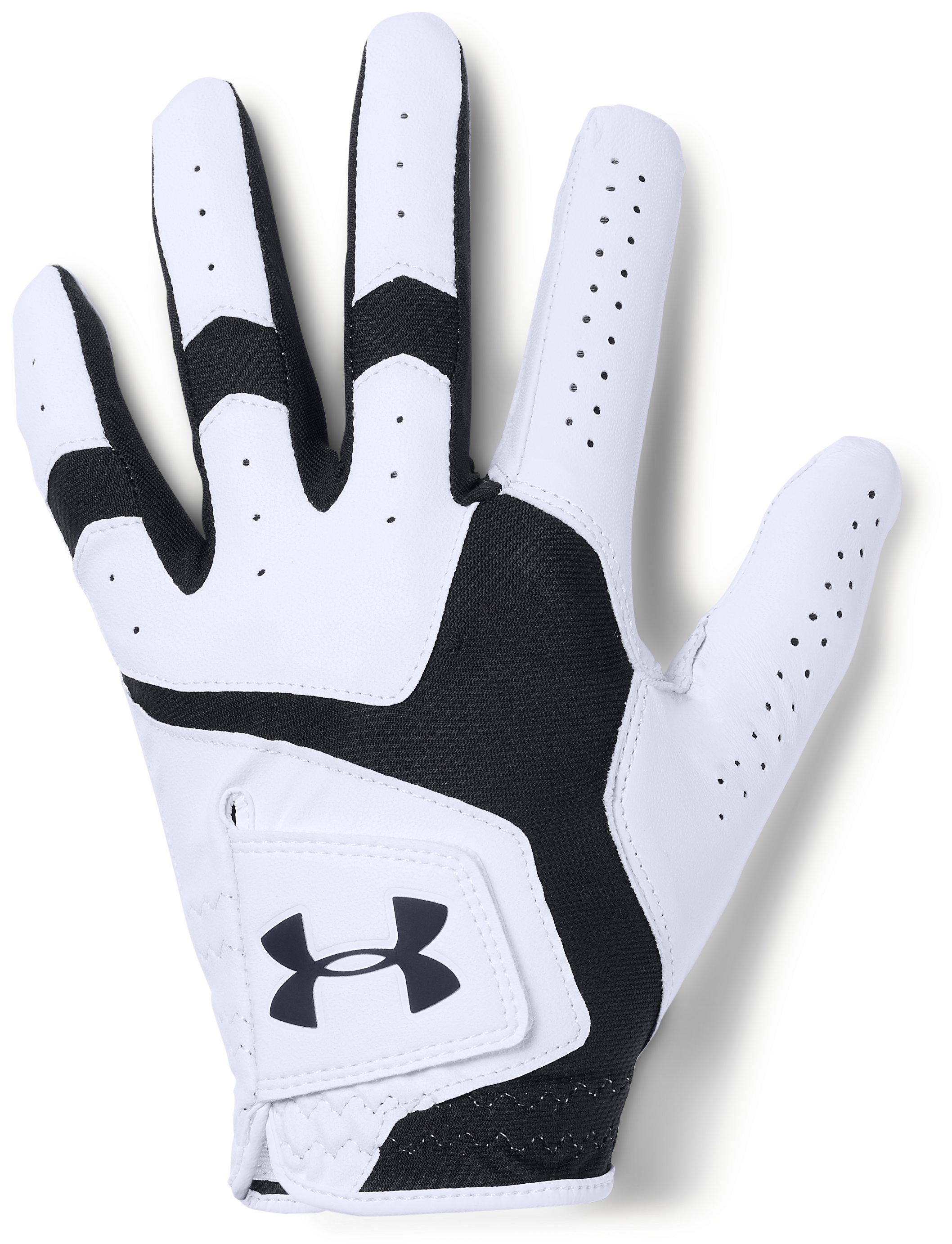 Men's UA CoolSwitch Golf Glove, White, , White, Click to view full size