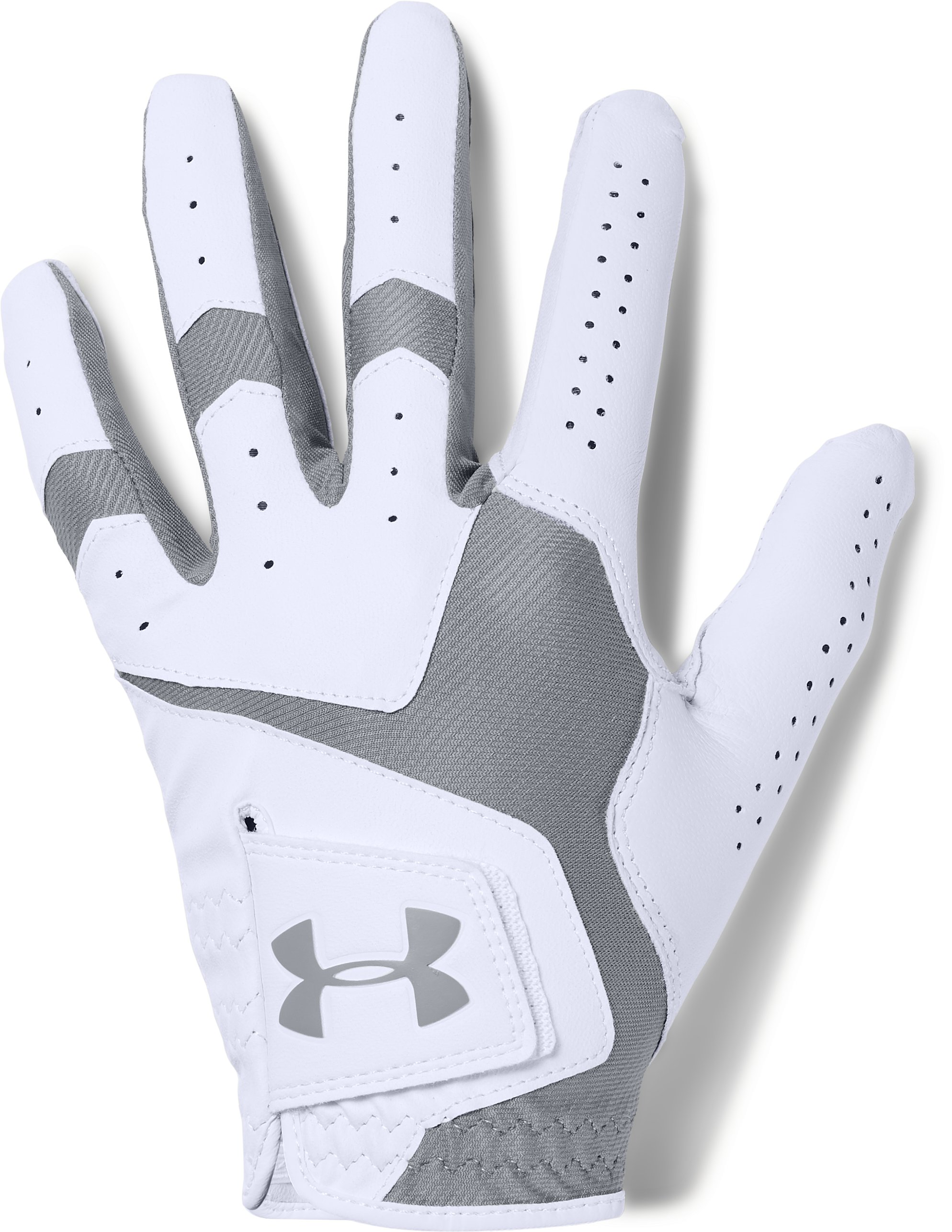 Men's UA CoolSwitch Golf Glove, White,