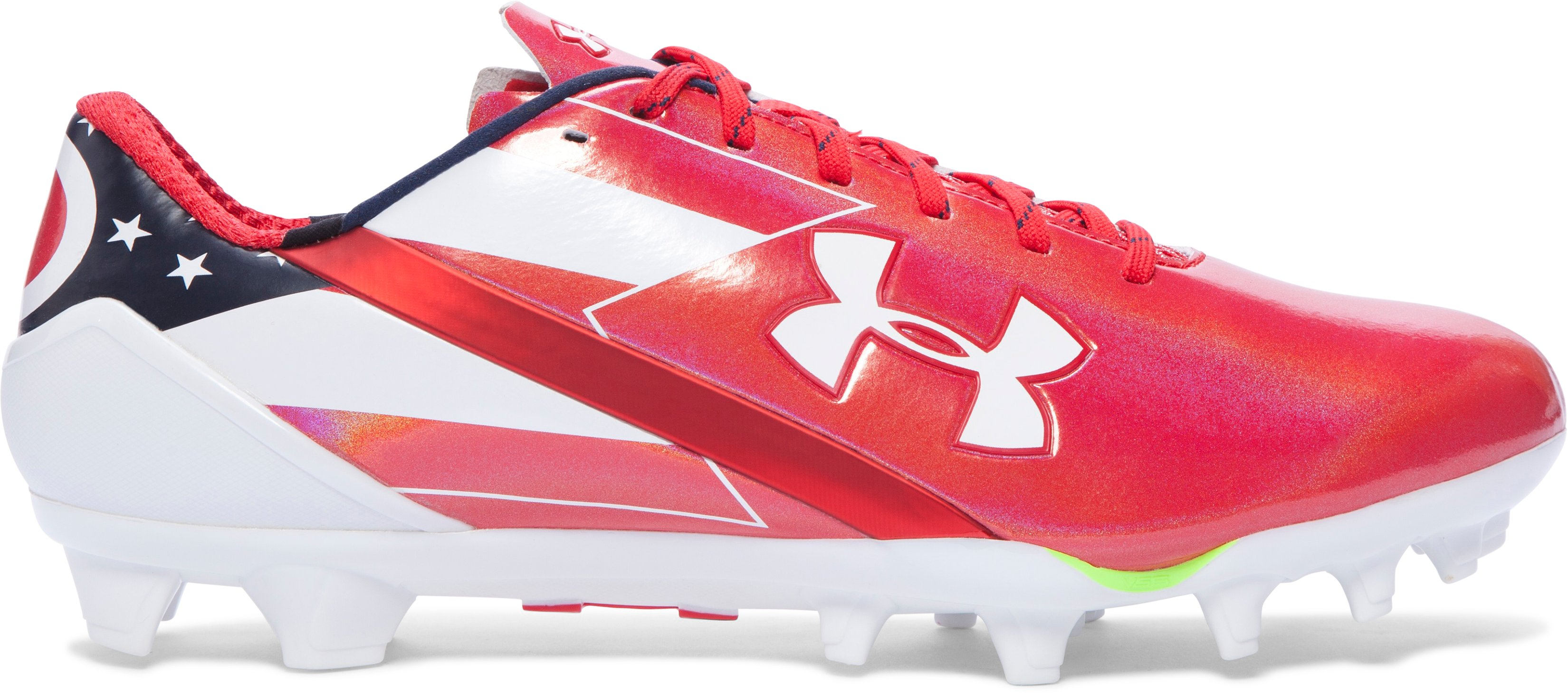 Men's UA Spotlight Football Cleats — Limited Edition, Red, undefined