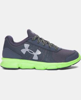 New Arrival Boys' Pre-School UA Speed Swift Grit Running Shoes  1 Color $49.99