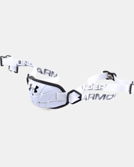 Men's UA Gameday Armour® Chin Strap, White, pdpMainDesktop image number 0