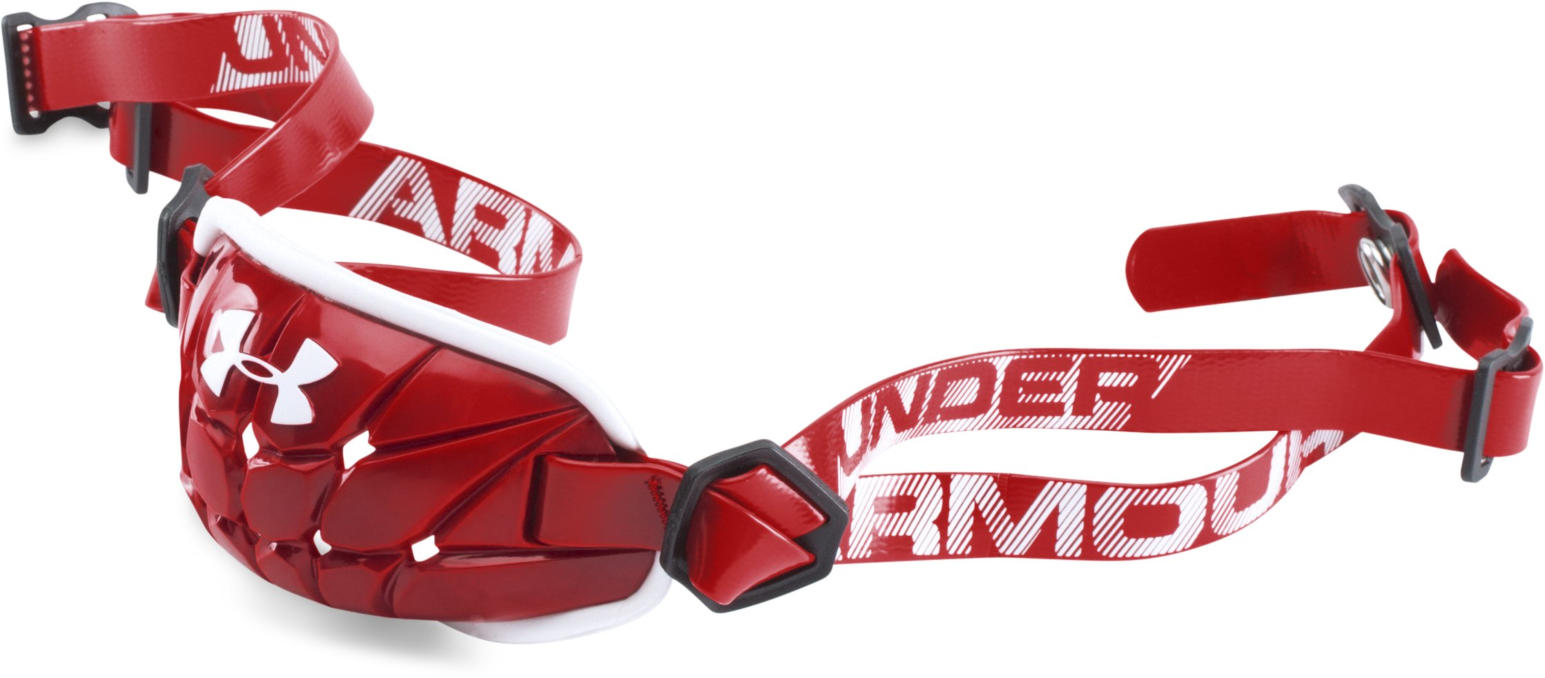 Men's UA Gameday Armour® Chin Strap, Red, zoomed image