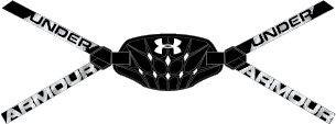 Boys' UA Gameday Armour® Chin Strap, Black , undefined