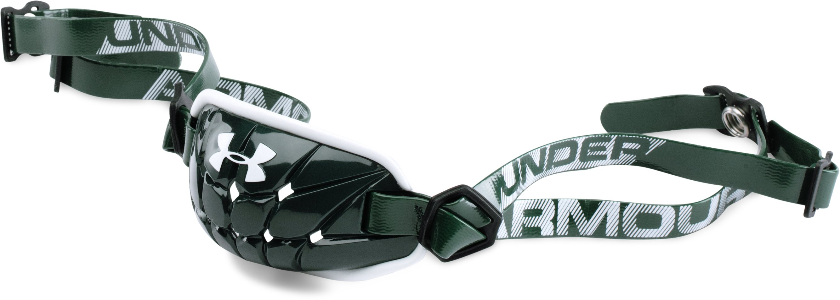 Boys' UA Gameday Armour® Chin Strap, Forest Green, undefined