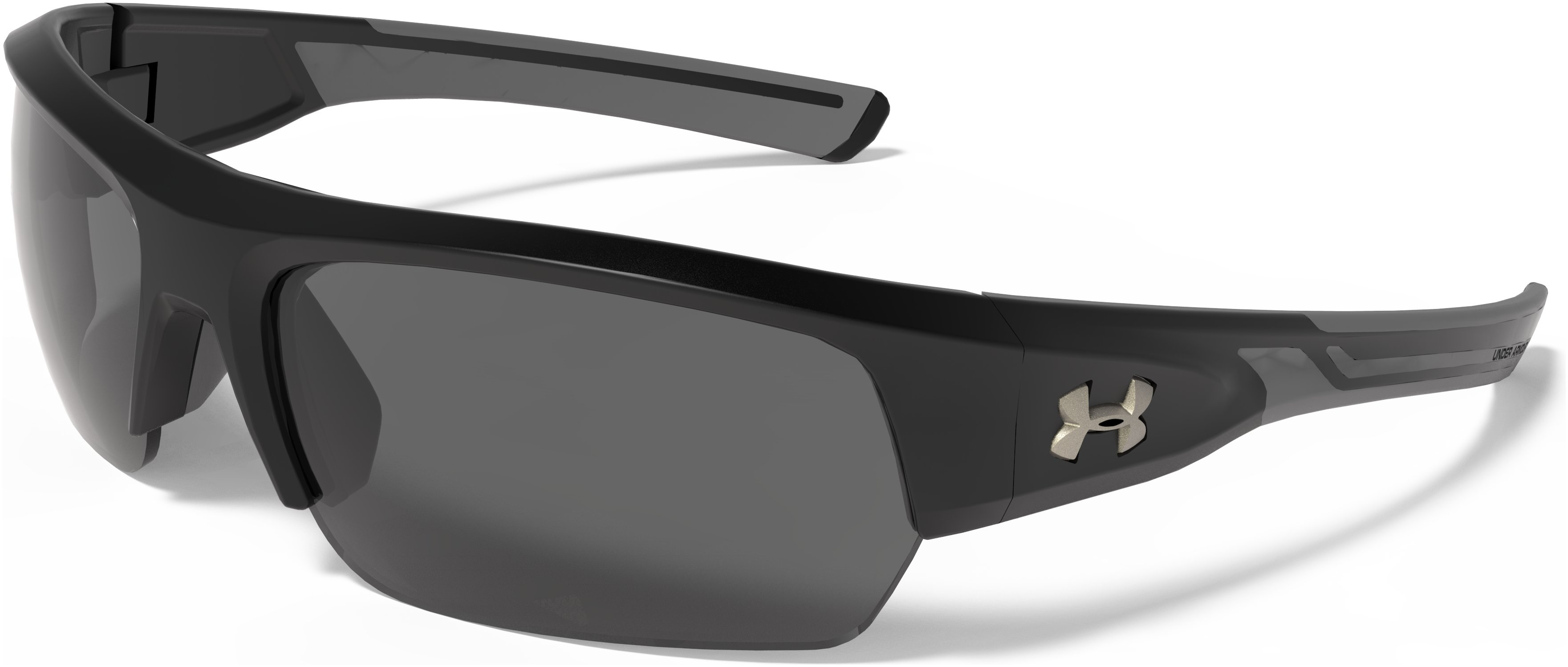 UA Big Shot Storm Polarized Sunglasses, Satin Black