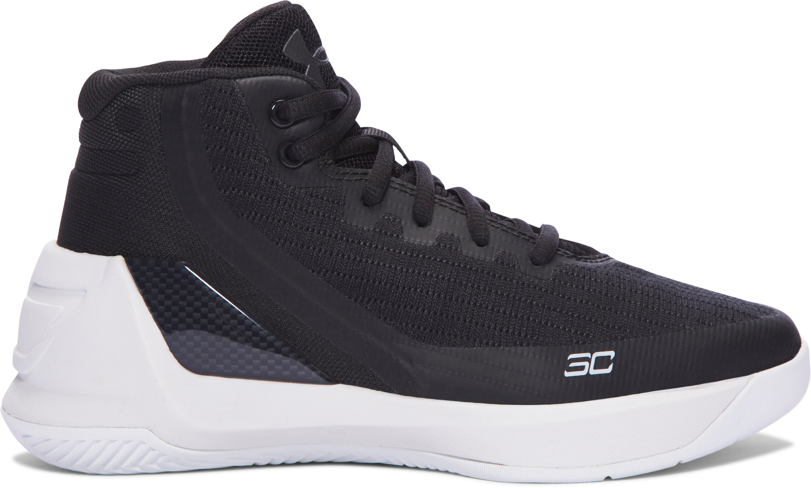 Pre-School UA Curry 3 Basketball Shoes, Black ,