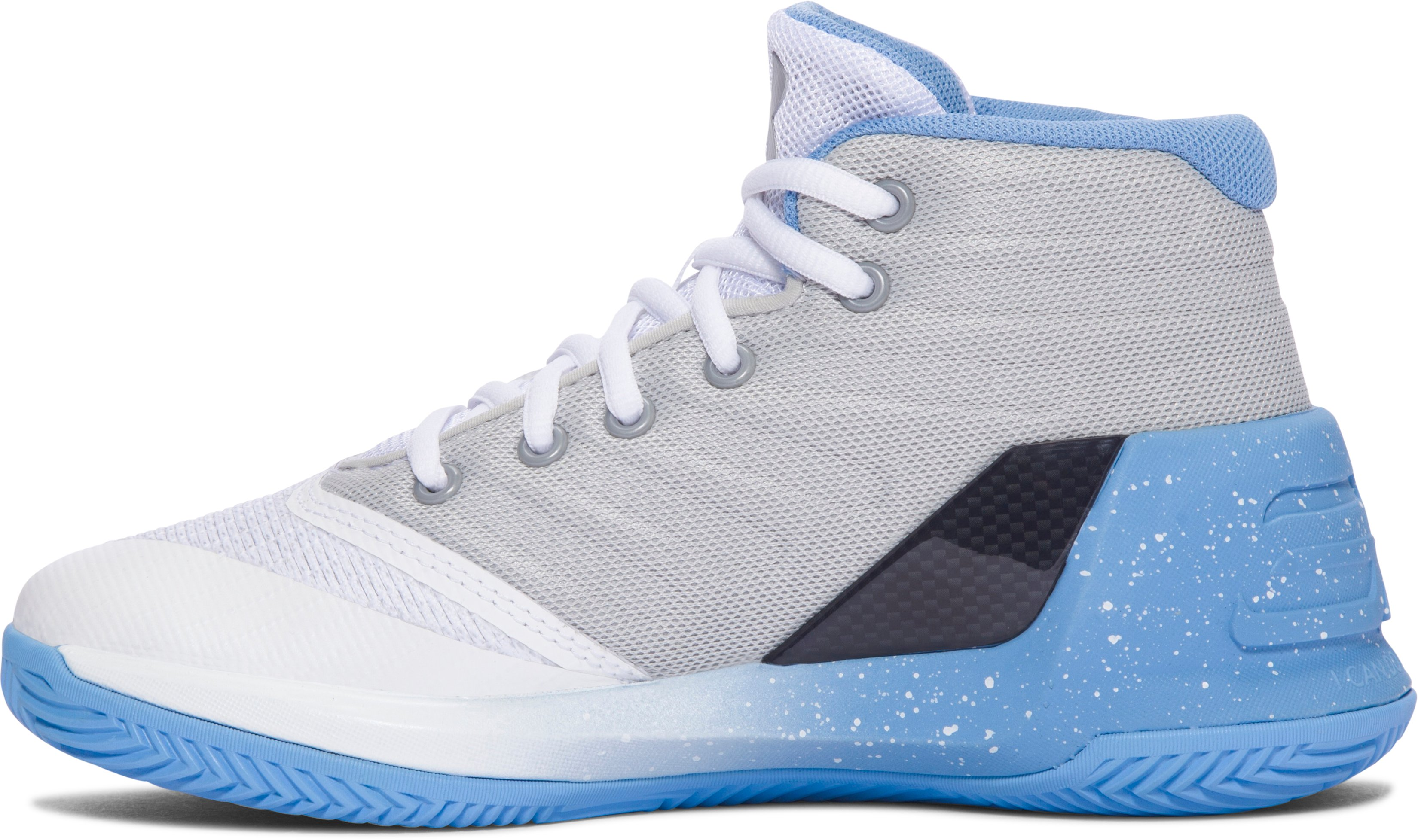 Pre-School UA Curry 3 Basketball Shoes, White, undefined