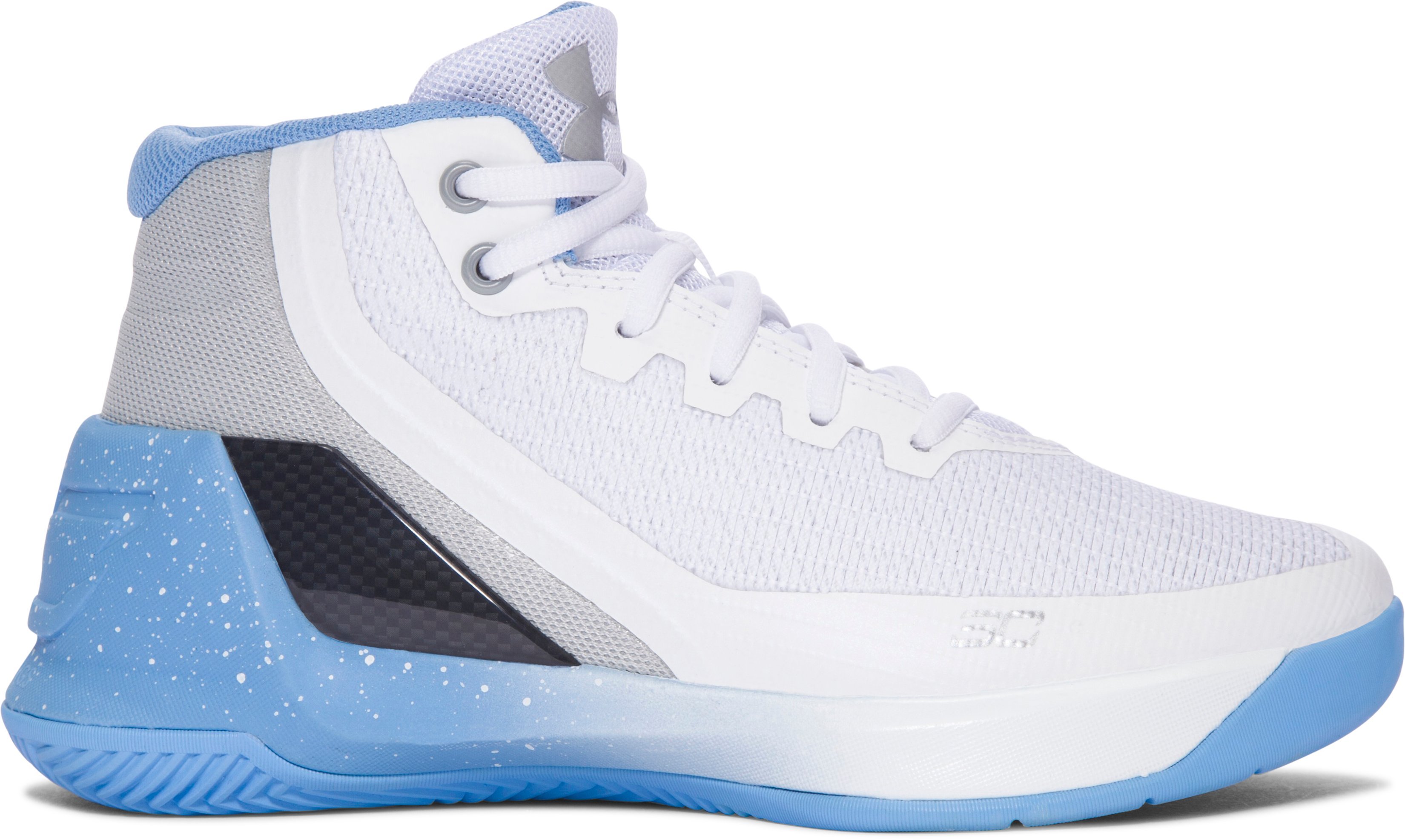 Pre-School UA Curry 3 Basketball Shoes, White