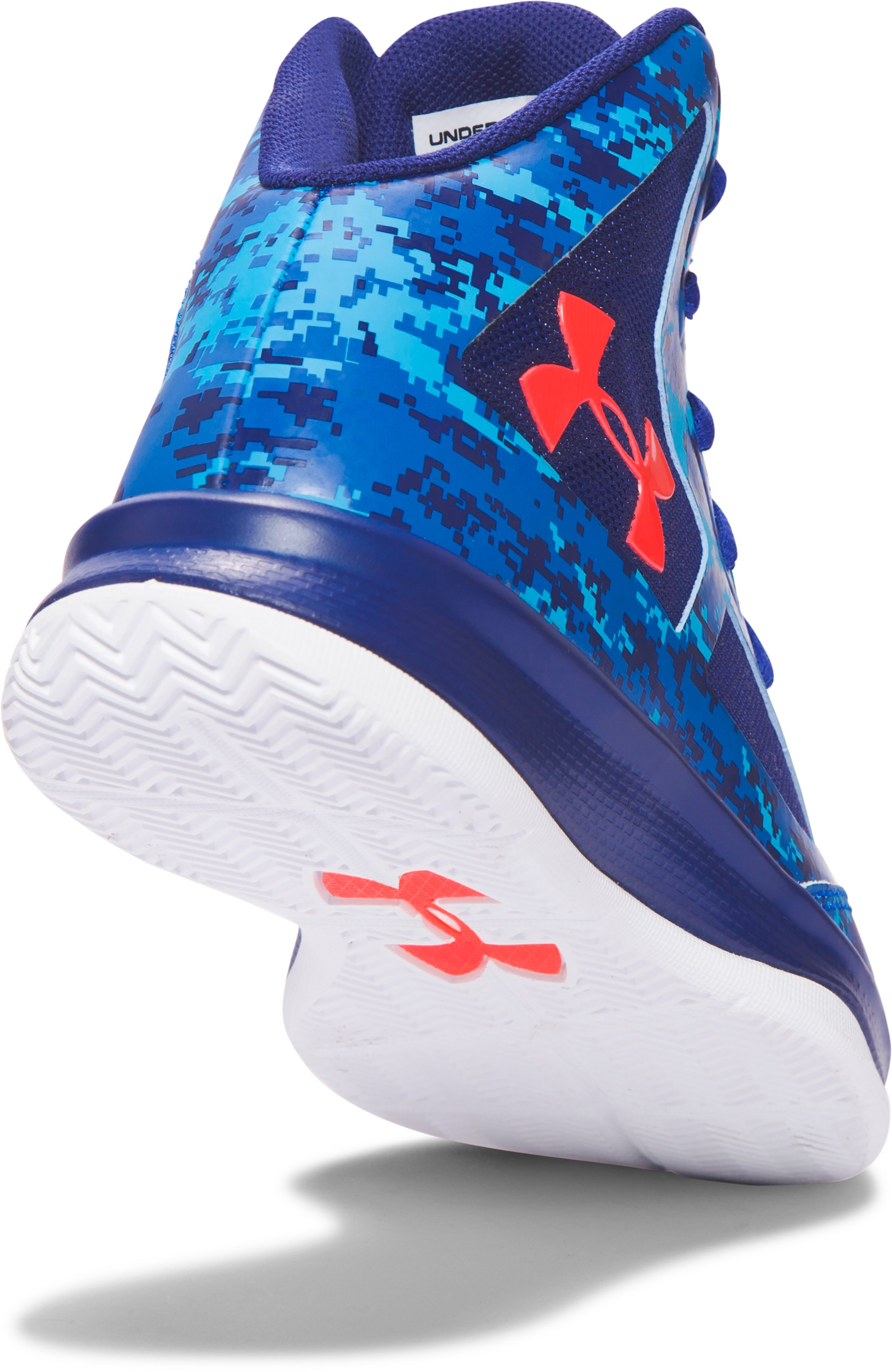 Boys' Pre-School UA Lightning Basketball Shoes, ULTRA BLUE, undefined